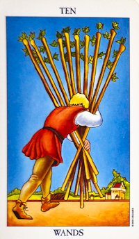 Ten Of Wands Tarot