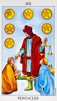 Six of Pentacles Tarot