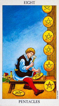Eight of Pentacles Tarot